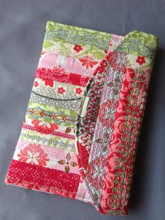 Kindle case using Crazy Stitch Quilt Block from Anita Goodesign