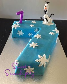 7th Birthday Cakes Number 7 Bday Girl Serendipity Favorite Recipes Frozen Birthdays