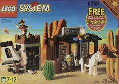 Lego 6755 - Sheriff's Lock-up - 1996 Lego Memes, Western Photo, Lego Club, Lego System, Lock Up, Vintage Lego, Lego Toys, Lego Instructions, Lego Movie