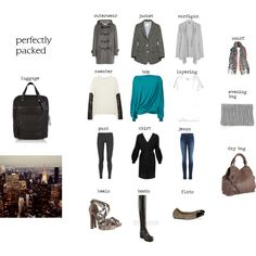 """""""Three Day Weekend City Trip"""" by catiajn on Polyvore"""