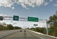 July 2011 - Entering Rhode Island from Massachusetts on Interstate 195