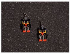 Owl Earrings by HandMadeBeadedCrafts on Etsy
