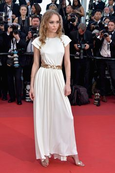 Lily-Rose Depp in Chanel at the 2017 Cannes Film Festival Opening Gala