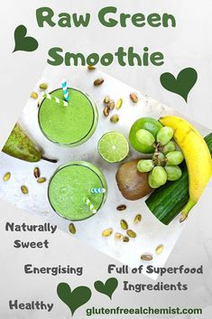 Fantastic Pics Naturally Sweet Raw Green Smoothie - Magic in a Glass - Gluten Free Alchemist Ideas Smoothie fans are getting more and more popular due to the great taste of this increasingly popular Smoothie Makers, Smoothie Packs, Baobab Powder, Popular Drinks, Best Smoothie Recipes, Frozen Pineapple, Nutrient Rich Foods, Green Grapes, Natural Sugar