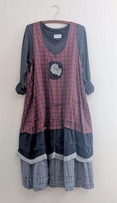 French Prairie 'Maryse' Dress / By Breathe-Again Clothing - upcycle clothes wedding wedding flowes Diy Kleidung, Jumper Dress, Facon, Refashion, Diy Clothes, Boho Fashion, Textiles, Retro, My Style