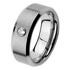 Valentines Day 8mm Beveled Edge Cobalt Free Tungsten Carbide COMFORT-FIT One Stone .072 Carat Diamond Wedding Band Ring (Size 8 to 13) The World Jewelry Center. $100.00. scratch proof. Promptly Packaged with Free Gift Box and Gift Bag. Tungsten has a tendency to break when hit with a hard material