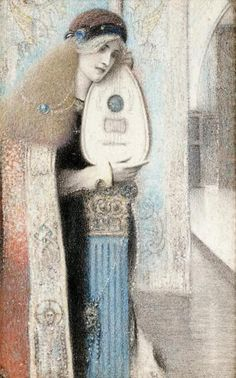 A Musician by Fernand Khnopff