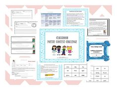 April is Poetry Month! Poetry Contest! http://www.teacherspayteachers.com/Product/Poetry-Contest-Challenge