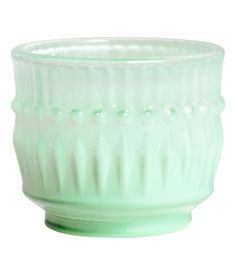 vintage Fire King looking green glass tea light holders...Product Detail | H&M US