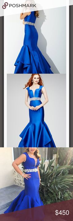 Jovani dress Beautiful blue dress, used it only once. It's been alter to my height 5'2 with a 7 inch shoes. Jovani Dresses Prom
