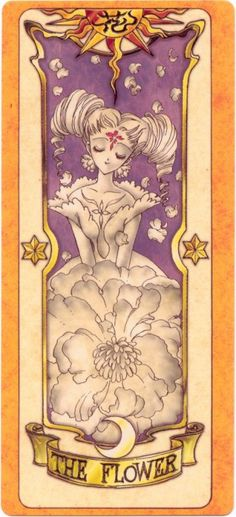 This is The Flower Clow Card from the Card Captor Sakura anime and manga series by CLAMP Cardcaptor Sakura, Sailor Moon, Manga Anime, Anime Art, Disney Marvel, Chobits Anime, Sakura Card Captors, Clear Card, Batman