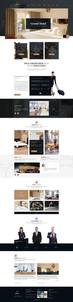 Grand - Hotel & Resturent PSD Template by ThemexLab | ThemeForest