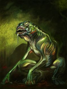 Another Lovecraft concept. The Deep Ones are creatures in the Cthulhu Mythos of H. Concept - Deep One Lovecraft Cthulhu, Hp Lovecraft, Grimm, Yog Sothoth, Call Of Cthulhu Rpg, Facebook Art, Horror Fiction, High Fantasy, Fantasy Creatures