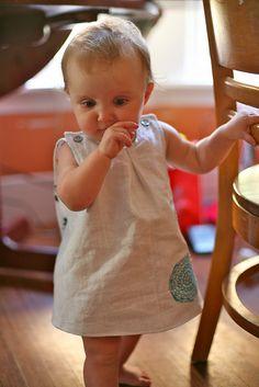 linen roly poly || Inder Loves Folk Art ... little kids in linen, mmm