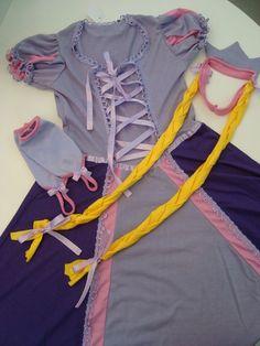 Pijama fantasia Rapunzel