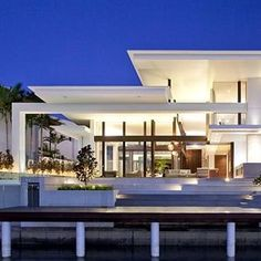 Wooden beams Canterlevers Glass High ceilings/void NABD name Sunshine Coast mansion Australia's best building design