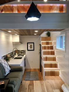 The Tiny Home of Zen: a beautiful modern tiny house with a minimal interior, designed and built by Tiny Heirloom.