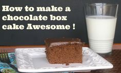 How to make a Chocolate cake mix awesome.  This trick brings out the chocolate flavor and make the cake super moist.  People will ask for seconds