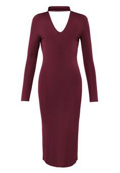 CRAYON DRESS BURGUNDY, view-small | IvyRevel