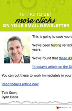 10 Tips to get More Clicks On Your Email Newsletter | digitalmarketer.com