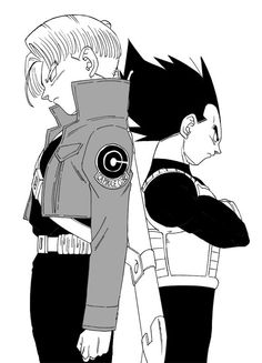 Vegeta and Trunks.