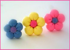 Flower Rings in #polymer clay