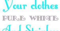 We have here the best tricks you can use in order to make your clothes pure white and stainless. If you use to buy expensive detergents or ...