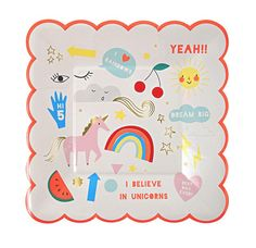 We are your Online Party Decorations Boutique and we have the Rainbow Unicorn Plates and Party Supplies that you need! The perfect addition to your Rainbow Unicorn Birthday Party. Unicorn Party Plates, Unicorn Party Bags, Rainbow Unicorn Party, Unicorn Balloon, Unicorn Party Supplies, Rainbow Birthday, Unicorn Birthday Parties, Birthday Party Decorations, Rainbow Baby