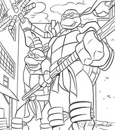 Cherepashki Nindzya Raskraski Raskraski Malchikam Teenage Mutant