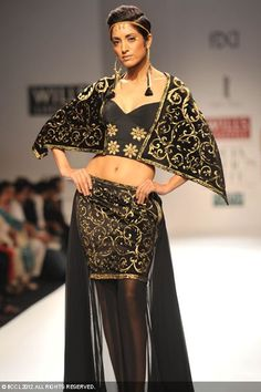 Surbhi Chawla | Wills Lifestyle India Fashion Week #WIFW 2012 - shorten the skirt and add some sheer.