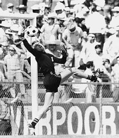 West Germany goalkeeper Sepp Maier in action at the 1970 World Cup Finals. 1970 World Cup, Good Soccer Players, World Cup Final, Goalkeeper, All Over The World, Nostalgia, Germany, Sports, Finals