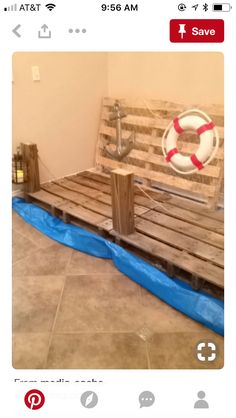 DIY wharf for nautical party