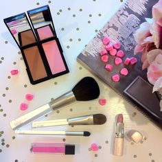 Shades of pink!  Jouer Mineral Powder Blush in Peony, Moisturizing Lip Gloss in Peony & Hydrating Lipstick in Meg!