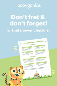 We know planning a virtual celebration for your expecting loved ones can be stressful — especially right now. So, we put together this guide to help get you started. Happy planning!   #virtualbabyshower #virtualshower #babyshower #babyganics #momhack Cartoon Mouths, Baby Shower Checklist, Virtual Baby Shower, Diy Birthday Decorations, Before Baby, Take Care Of Yourself, Have Time, Baby Shower Gifts, First Love