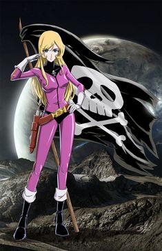 The Eternal Captain Harlock Sci Fi Anime, Comic Anime, Chica Anime Manga, Comic Art, Sci Fi Comics, Manga Comics, Nausicaa, Space Pirate Captain Harlock, Japanese Superheroes