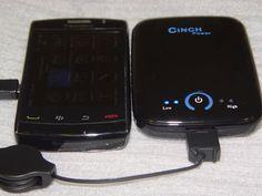 Cinch 5000 mAh External Battery for Samsung Galaxy S 4G Cinch Power 5000 mAh External Battery for HTC Evo 4G   Travel Adapter