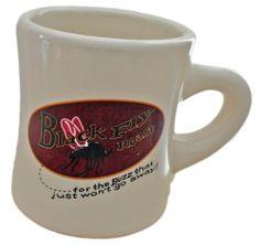 Black Fly Roast Coffee Cup Mug Maine Advertising Souvenir Diner Restaurant Style