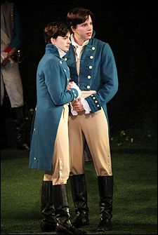 Anne Hathaway as Viola and Stark Sands as Sebastian in Twelfth Night at the Delacorte Theatre Theatre Geek, Theatre Stage, Broadway Theatre, Musical Theatre, Broadway Costumes, Cool Costumes, Costume Halloween, Works Of Shakespeare, William Shakespeare