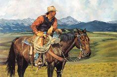 """A Great View"" -Western Paintings Craig Tennant's Cowboy & Western Art Reproductions. - Craig Tennant Cowboy Prints"