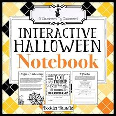 halloween notebook reading writing math tasks more - Halloween Web Quest