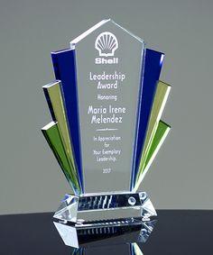 Art Deco Crystal Award