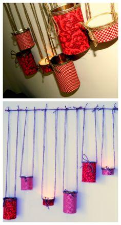 Tin can wall lantern craft