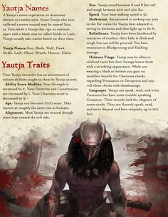 Homebrewing class Part 2 of 2 of my Yautja race from Predator. Balanced for DND Dungeons And Dragons Races, Dungeons And Dragons Classes, Dungeons And Dragons Homebrew, Dungeons And Dragons Characters, Dnd Characters, Dnd 5e Races, D D Races, Aliens, Dnd Classes