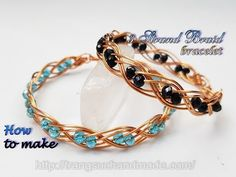 2c492e3b5 Double 3 wire braid bracelet with small crystal - How to make handmade  jewelry 489
