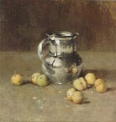 Emil Carlsen-Still Life With Pitcher and fruit