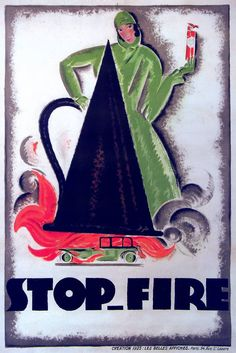 Charles Loupot, Affiche pour Stop Fire, 1925