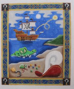 Rebecca Wood Designs Peter Pan Hand Painted Needlepoint Canvas