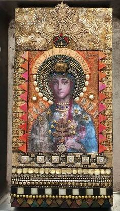 2535 best images about Art Inspiration Religious Icons, Religious Art, Assemblage Art, Mexican Folk Art, Polymer Clay Art, Sacred Art, Our Lady, Mosaic Art, Box Art