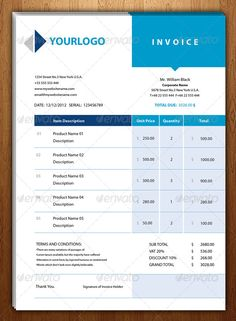wwwdemorfozacom clean invoice design template design invoice print pinterest template brochures and business