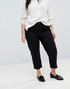 ASOS Curve   ASOS Design Curve chino pants in black